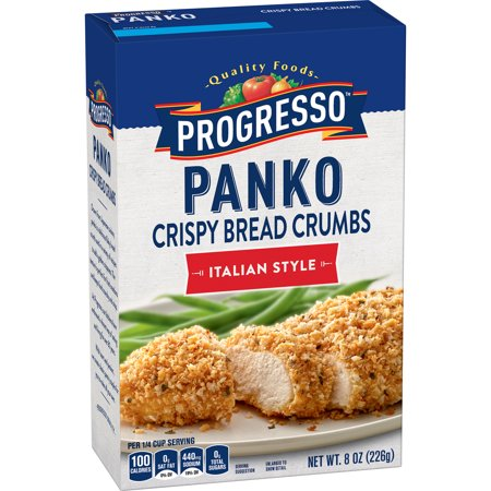 (4 Pack) Progresso Panko Bread Crumbs, Italian Style, 8 (Chicken Parmesan Bread Crumbs)