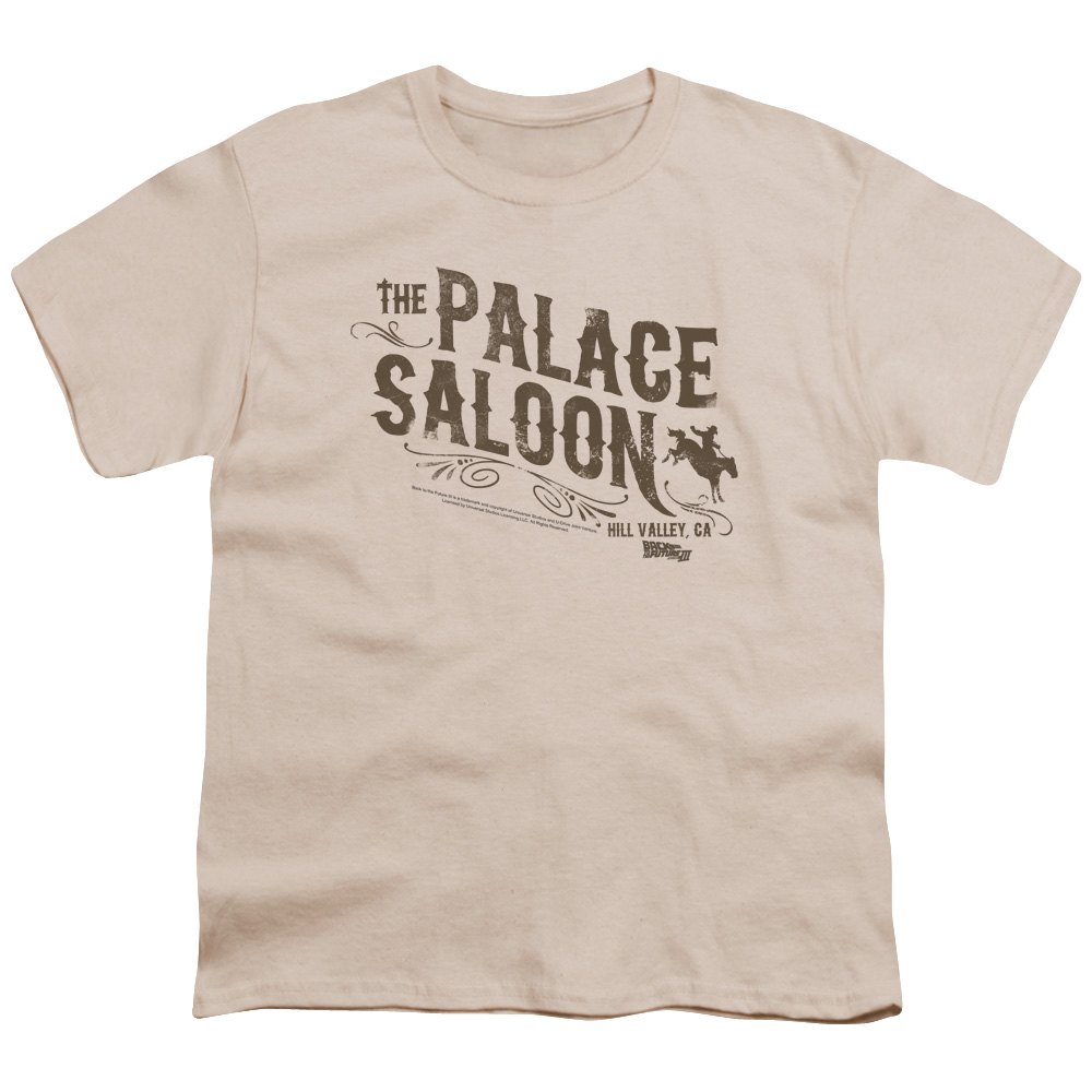 Back To The Future Iii Palace Saloon Big Boys Youth Shirt