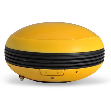 Microlab M102 Daisy-Chain Multi-Color Compact Mini Stereo Speaker, Yellow