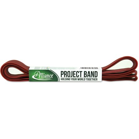 """Image of Alliance Rubber Project Band, 1 Extra Large 92"""" Industrial Strength Heavy Duty Rubber Band (92"""" x 1"""" x 1/16"""", Red)"""
