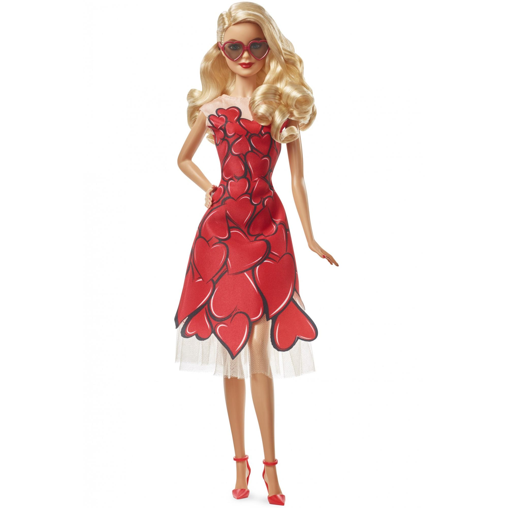 Barbie Celebratory Collectible Doll with Heart Dress & Sunglasses