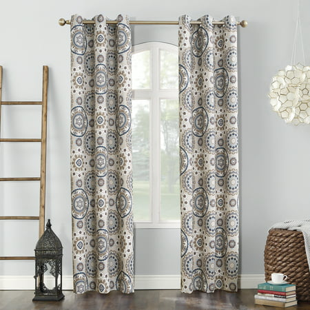 Tooth Blackout (Sun Zero Nepal Global Print Blackout Grommet Curtain)
