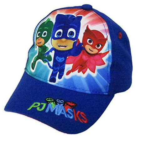 Disney PJ Masks Boys' Blue Baseball Cap - Size Toddler age 2-5 - Disney Masks