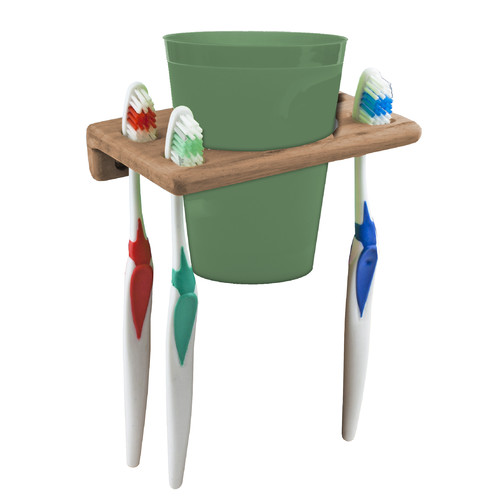 SeaTeak Cup and Toothbrush Holder by Waterbrands