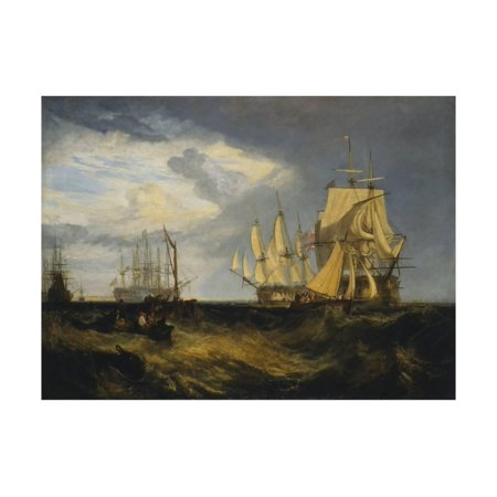 Spithead: Two Captured Danish Ships Entering Portsmouth Harbour Print Wall Art By J. M. W. (Ship To Denmark)