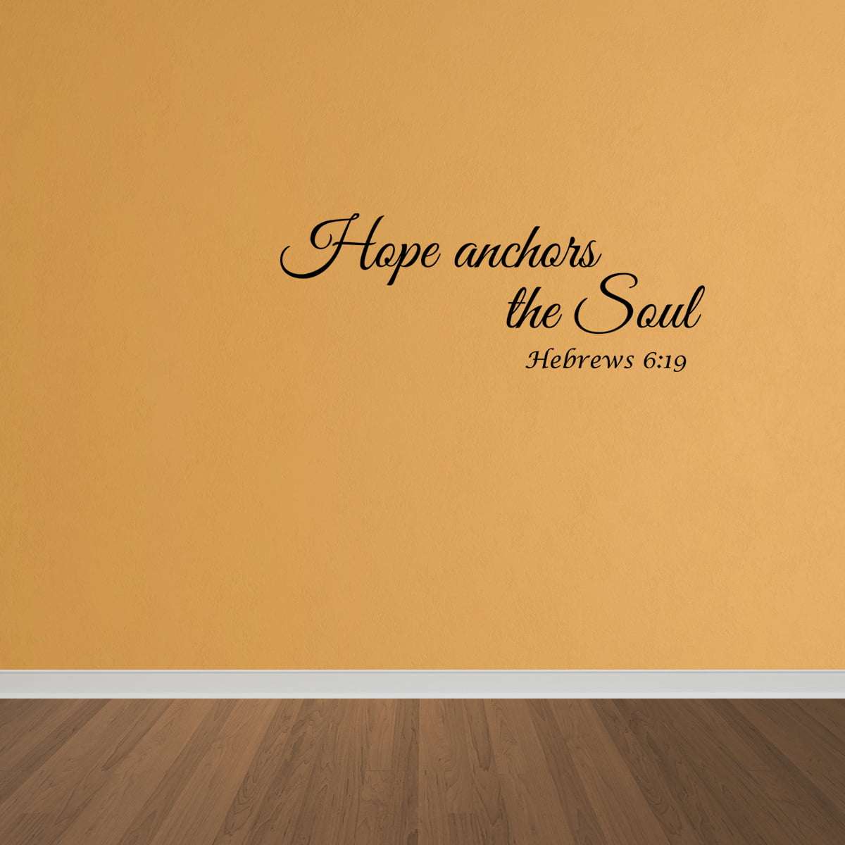 Wall Decal Quote Hebrews 6:19 Hope Anchors The Soul Bible Verse Art ...