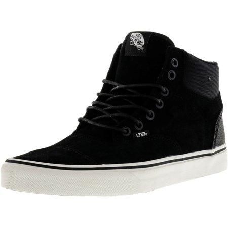 2bc07f580f597b Vans - Vans Men s Era-Hi Pig Suede And Nylon Black   Blanc De High-Top  Skateboarding Shoe - 11M - Walmart.com