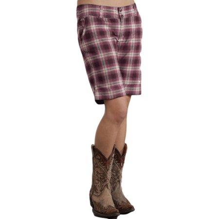 Stetson Western Shorts Womens Plaid Red Brick 11-055-0597-0654 RE](Western Shot)