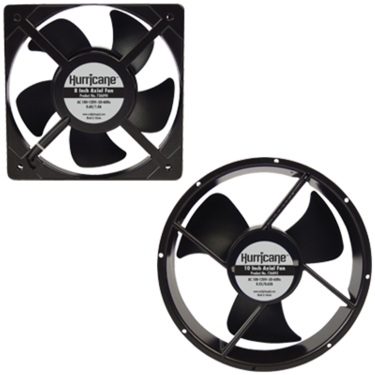 Hurricane 736895 Axial Fan 10 inch 806 CFM