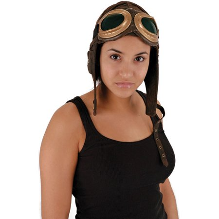 Steampunk Aviator Costume Helmet Hat Adult One Size for $<!---->