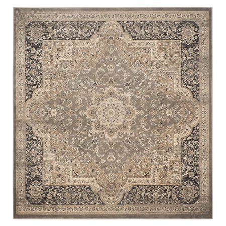 Safavieh Vintage Collection Vtg574d Traditional Oriental Medallion Taupe And Black Square Area Rug 6