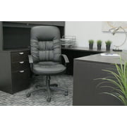 Boss Office Products Black Leather High Back Task Chair