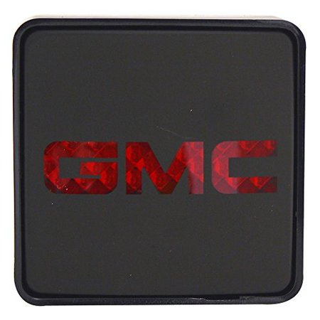 Square Lighted Hitch Cover - Bully CR-007G Official GMC Brake Light Hitch Cover - Black with Light-up logo