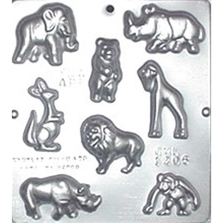 1206 Assorted Animals Chocolate Candy Mold