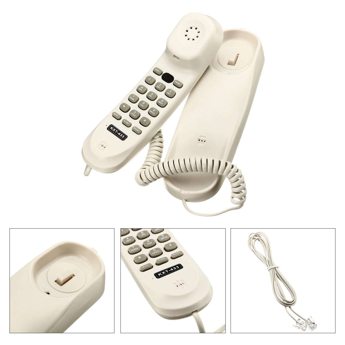 Universal Corded Telephone Desk//Wall Mount Landline Phone For Home Office Hotel