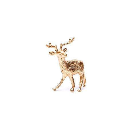 factory direct craft bulk package of 50 plastic miniature gold deer - tiny  reindeer figurines for christmas villages and holiday crafts (1-3/4 inch)