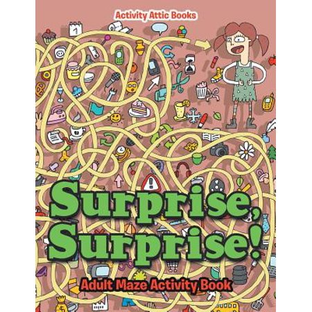 Surprise, Surprise! Adult Maze Activity Book](Halloween Activities At Home For Adults)