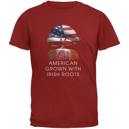 4th of July American Roots Cardinal Red Adult (Adult Cardinal Red T-shirt)