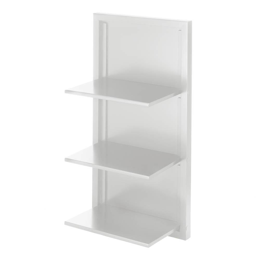 wholesale dealer e9535 0d915 White Corner Wall Shelf, Modern Classic Small Corner Shelf Unit Storage