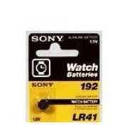 Sony LR41 - AG3 - 192 Alkaline Button Cell Watch Battery AG3 - LR41 Battery