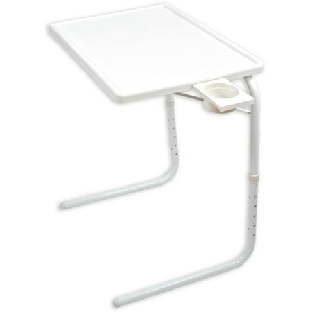 Sensational Portable Foldable Tv Tray Table Laptop Eating Drawing Tray Table Stand With Adjustable Tray With Sliding Adjustable Cup Holder White Home Interior And Landscaping Ologienasavecom