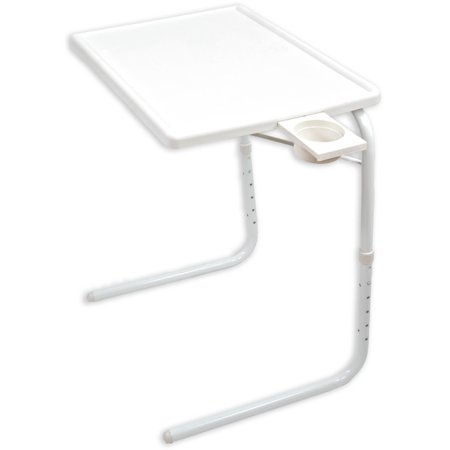 Peachy Portable Foldable Tv Tray Table Laptop Eating Drawing Tray Table Stand With Adjustable Tray With Sliding Adjustable Cup Holder White Interior Design Ideas Gentotryabchikinfo