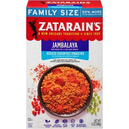 Rice Slices ((3 Pack) Zatarain's Reduced Sodium Jambalaya Rice Dinner Mix, 12 oz)