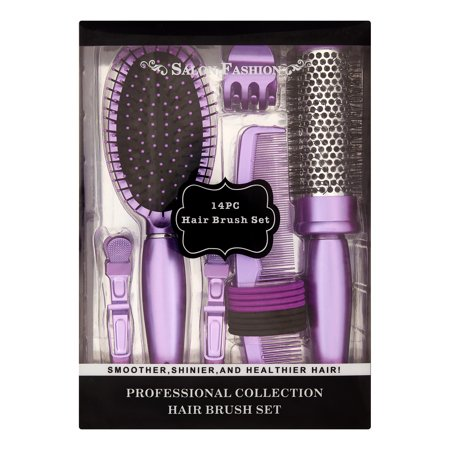 Hair Round Wash Brush - Salon Fashion Hair Brush Styling Set, 14 pieces ($22 Value)