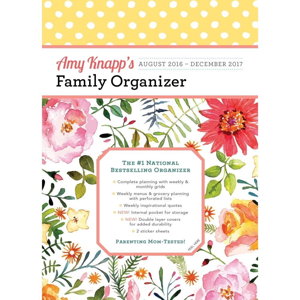 Amy Knapp's Family Organizer Softcover Weekly Planner, 2017 Family Organizer by Sourcebooks