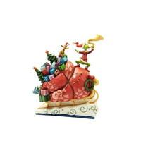Jim Shore GRINCH ON SLEIGH Polyresin Dr Seuss The Grinch 6002069