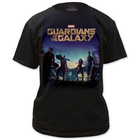 Guardians Of The Galaxy   Poster Apparel T Shirt   Black