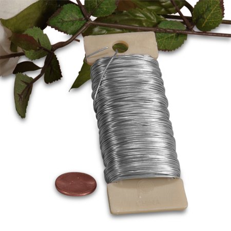 Silver Floral Wire 1 4 Lb Length 110 By Paper Mart