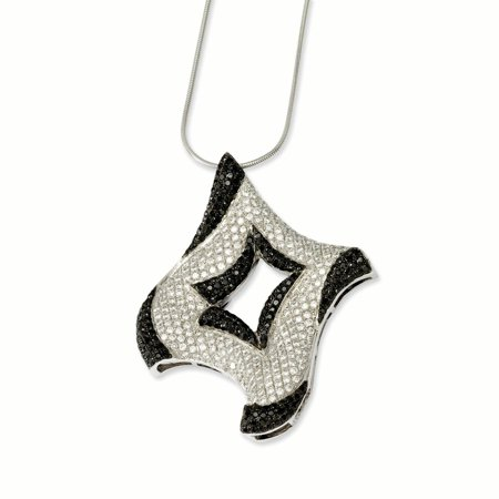 Sterling Silver & CZ Brilliant Embers Necklace 18 Inch - image 1 of 1