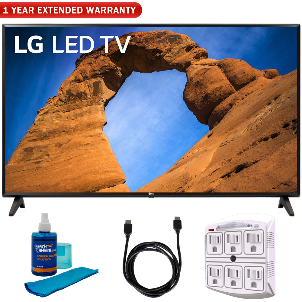"""LG 43LK5700PUA 43""""-Class HDR Smart LED Full HD 1080p TV (2018) + 6ft HDMI Cable + Screen Cleaner (Large Bottle) + SurgePro 6-Outlet Surge Adapter w/ Night Light"""