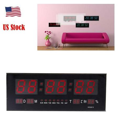 Hurrise Modern Led Alarm Clock Calendar Clock With