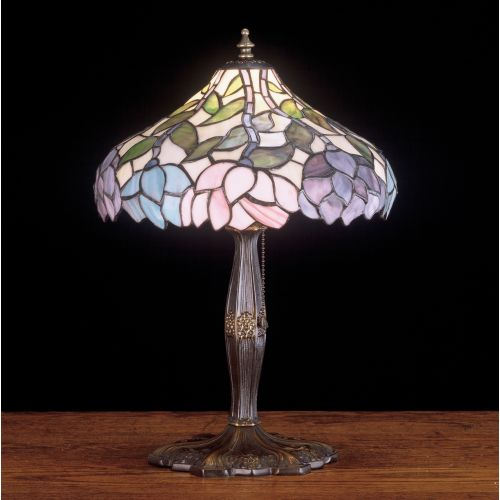Meyda Tiffany 52134 Stained Glass / Tiffany Accent Table Lamp from the Classic Wisteria Collection