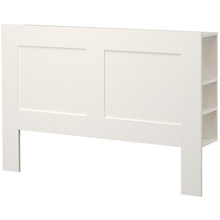 Ikea Queen size Headboard with storage compartment, white - Homecoming Queen Poster Ideas
