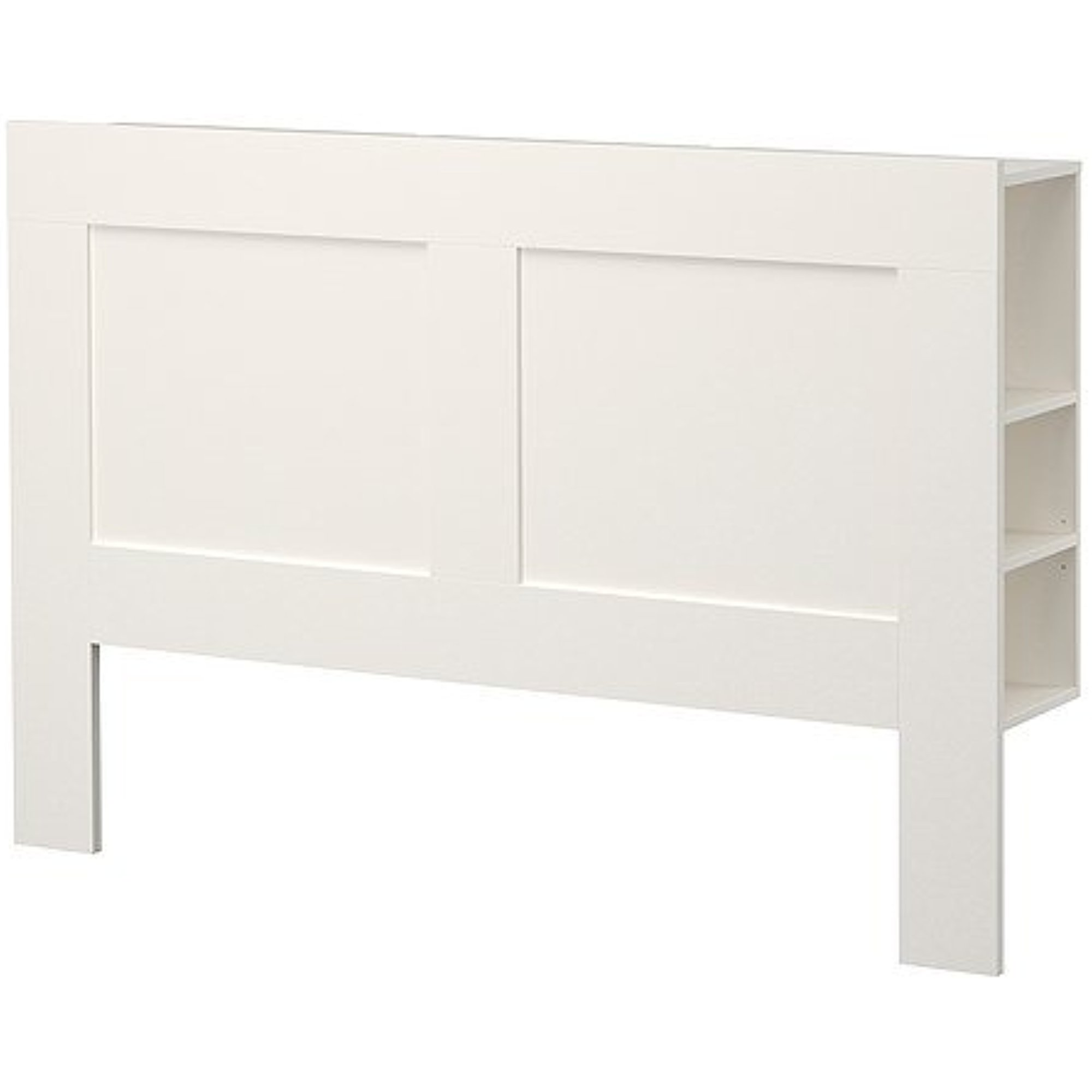 Ikea Full/Double Size Headboard With Storage Compartment, White  10210.82623.410