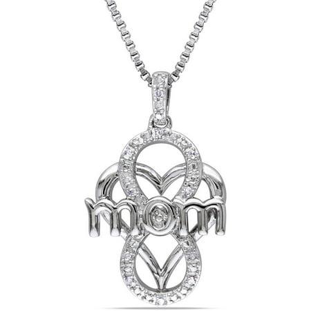 Miabella Diamond-Accent Sterling Silver Infinity Heart Pendant