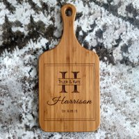 Personalized Handled Bamboo Serving Boards