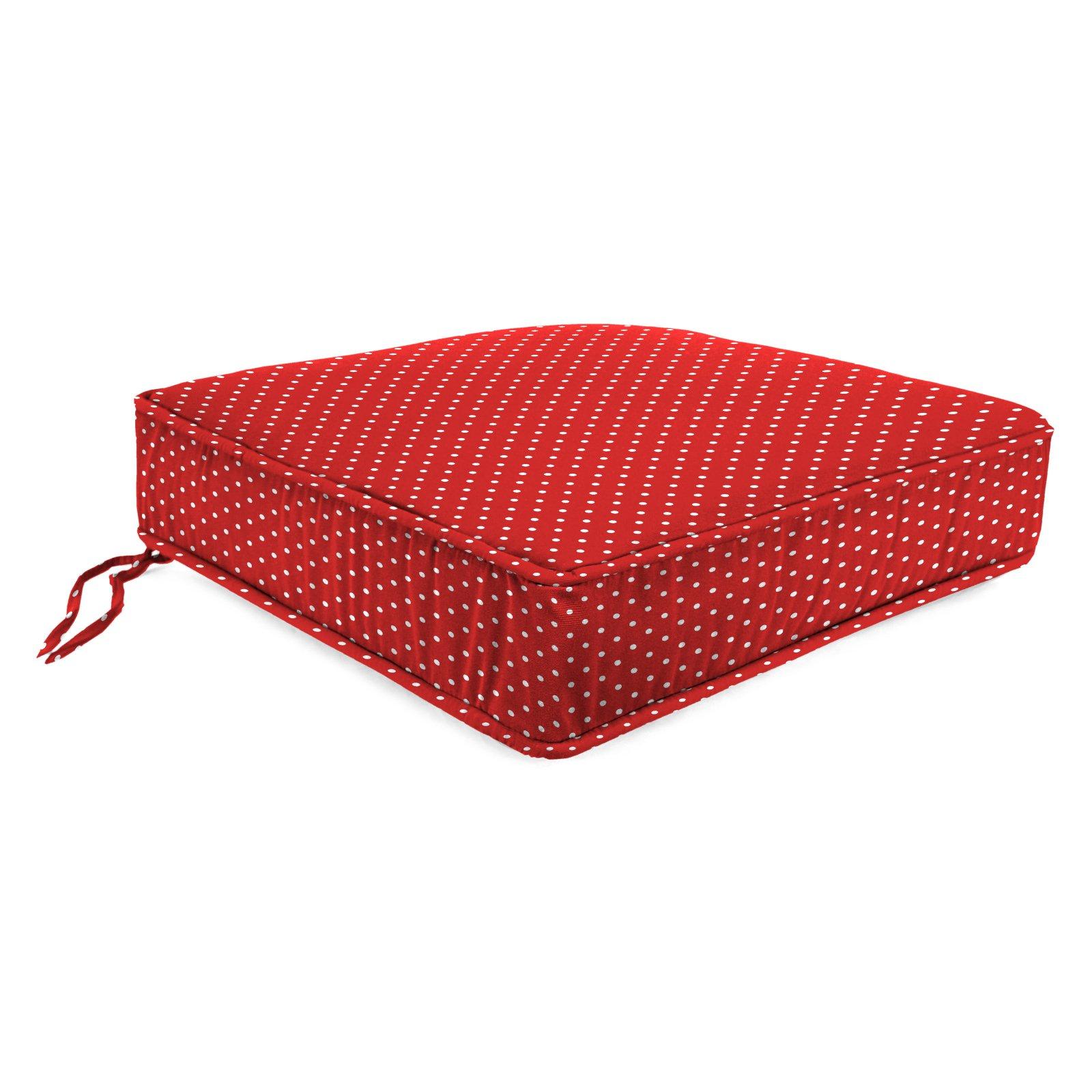 Jordan Manufacturing Reversible Outdoor Tufted Wicker Settee/Loveseat Cushion, Multiple Patterns