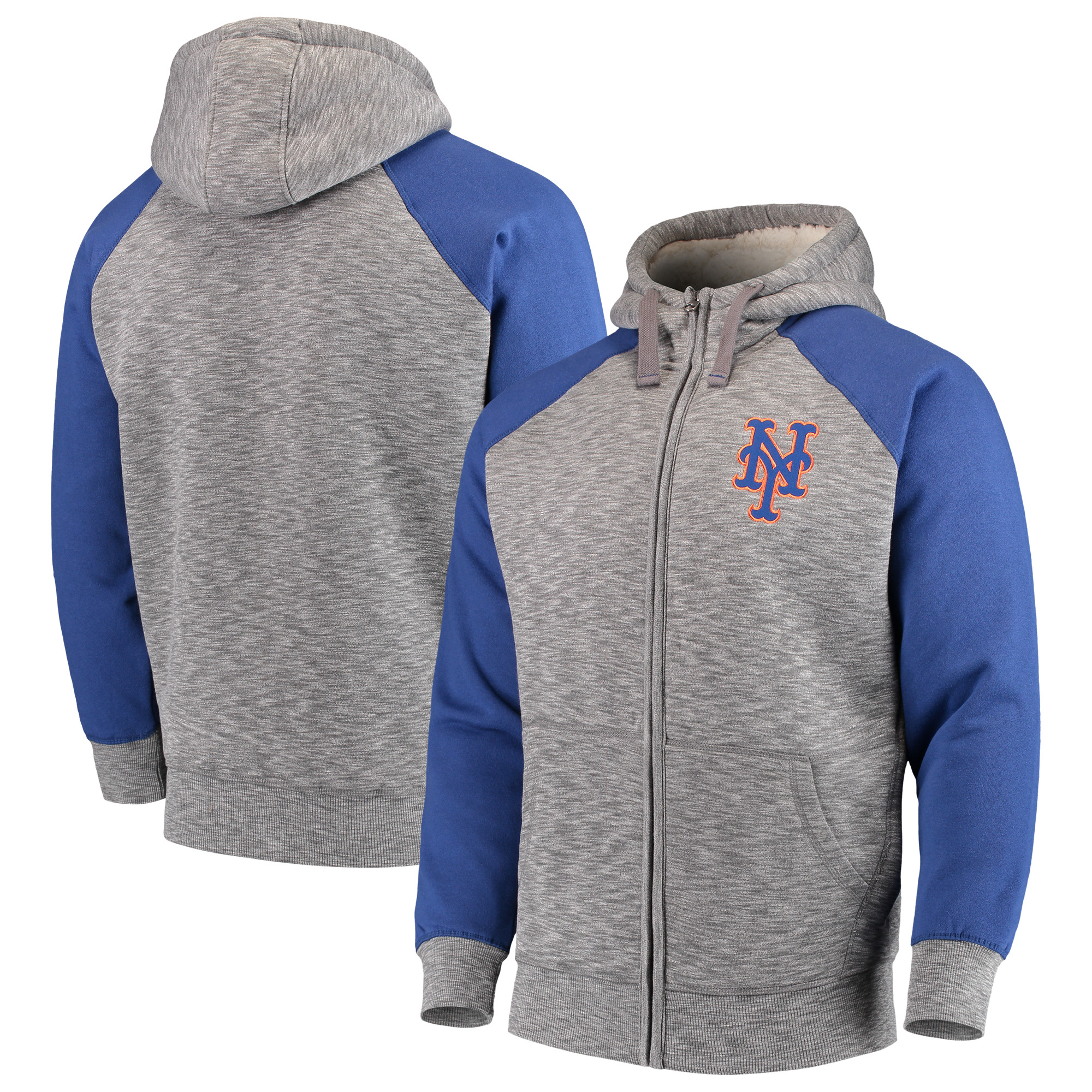 New York Mets G-III Sports by Carl Banks Turning Point Transitional Full-Zip Jacket - Gray