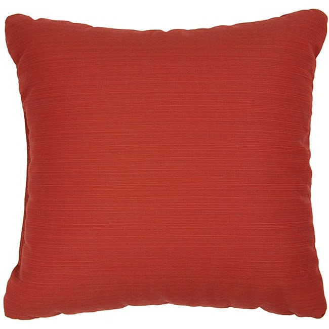 Humble and Haute Crimson 18-inch Knife Edged Indoor/ Outdoor Pillows with Sunbrella Fabric (Set of 2)