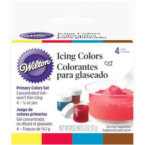 Wilton .5 oz. Icing Colors, Primary 4 ct.