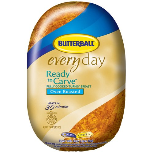 Butterball Everyday Ready To Carve Oven Roasted Turkey Breast, 24 oz