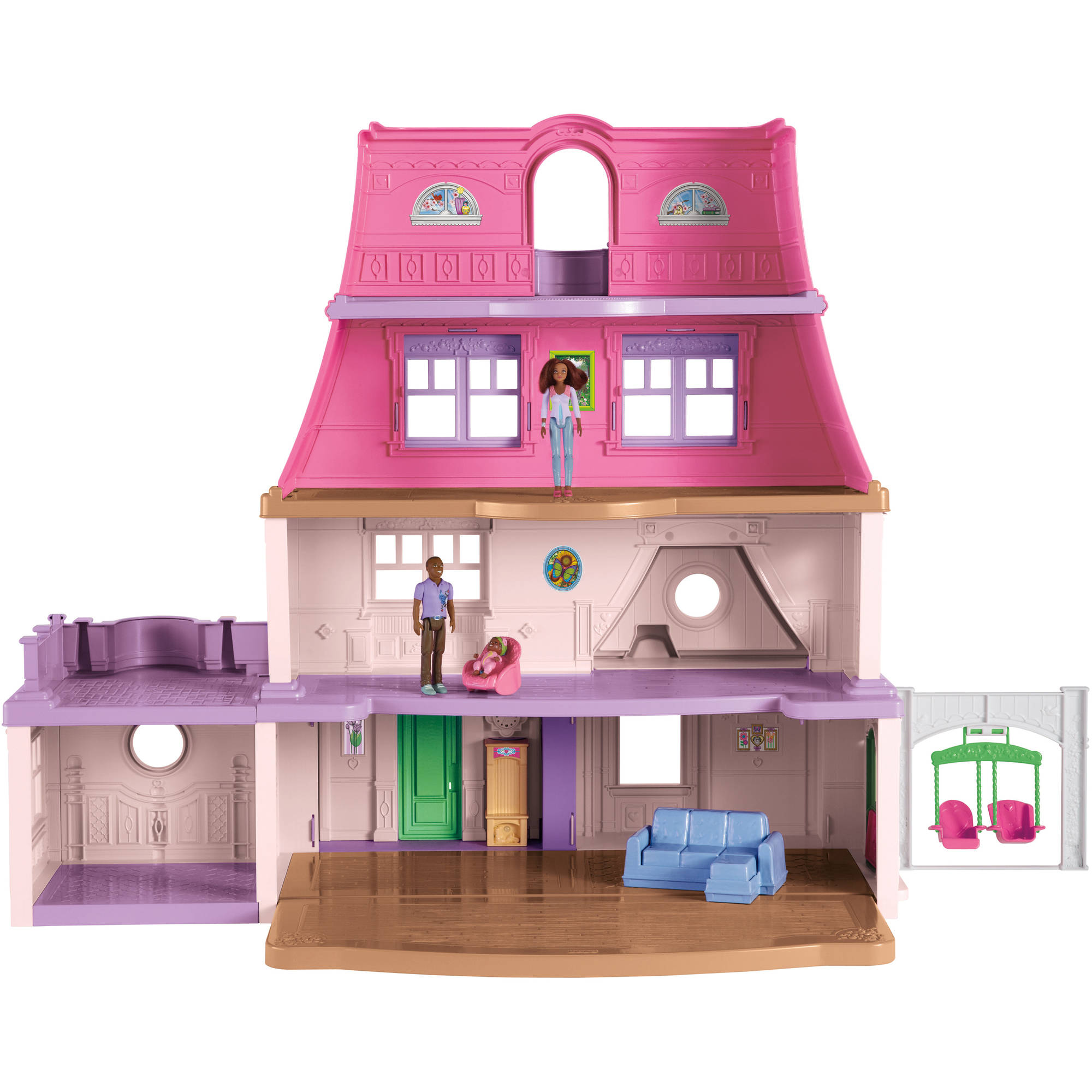Fisher price doll house furniture - Fisher Price Loving Family Dollhouse African American Multi Colored Walmart Com
