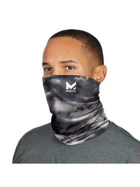 Mission Cooling Neck Gaiter, Multiwear Face Mask, 12+ Ways to Wear, Headband, UPF 50 Sun Protection, Cools Instantly when Wet, Great for Outdoors, Fishing, Hiking, Running- Cloud Quiet
