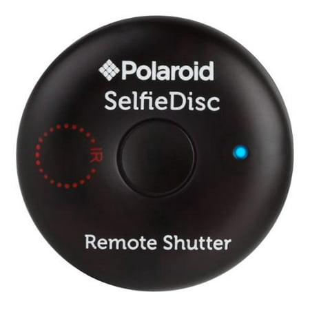 Polaroid SelfieDisc Enhanced IR Remote Shutter Release for SLR Cameras & Bluetooth Enabled Digital Cameras Compatible w/iOS, Android, Canon, Nikon, Sony, Pentax - Includes FREE Mobile (Sun Direct Dth Remote App For Android)