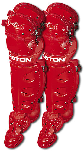 Easton Red Youth Natural Catcher's Leg Guards Ag by