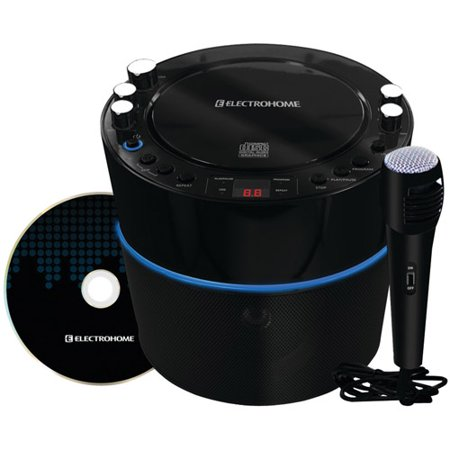 Limited Offer Electrohome Karaoke Machine Speaker System CD+G Player with 2 Microphone Connections, & AUX input for Smartphones Before Too Late